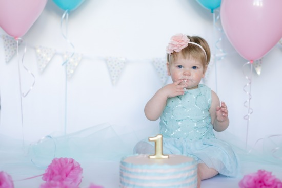 Zoey's First Birthday Cake Smash Session